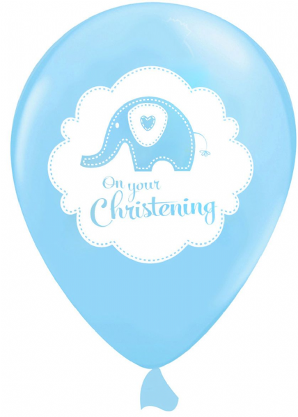 Sweet Baby Elephant Blue Latex Balloons